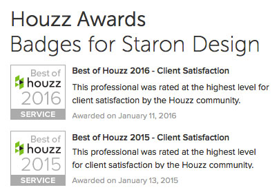 Houzz Awards for Staron Design Ottawa - Best of Houzz Client Satisfaction