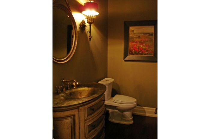 Country Estate Powder Room